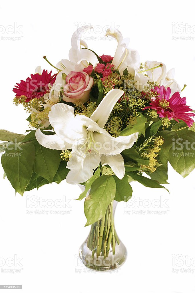 Flowers in Vase royalty-free stock photo