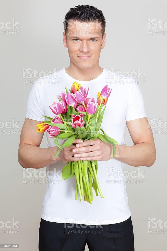 꽃 남자 royalty-free 스톡 사진