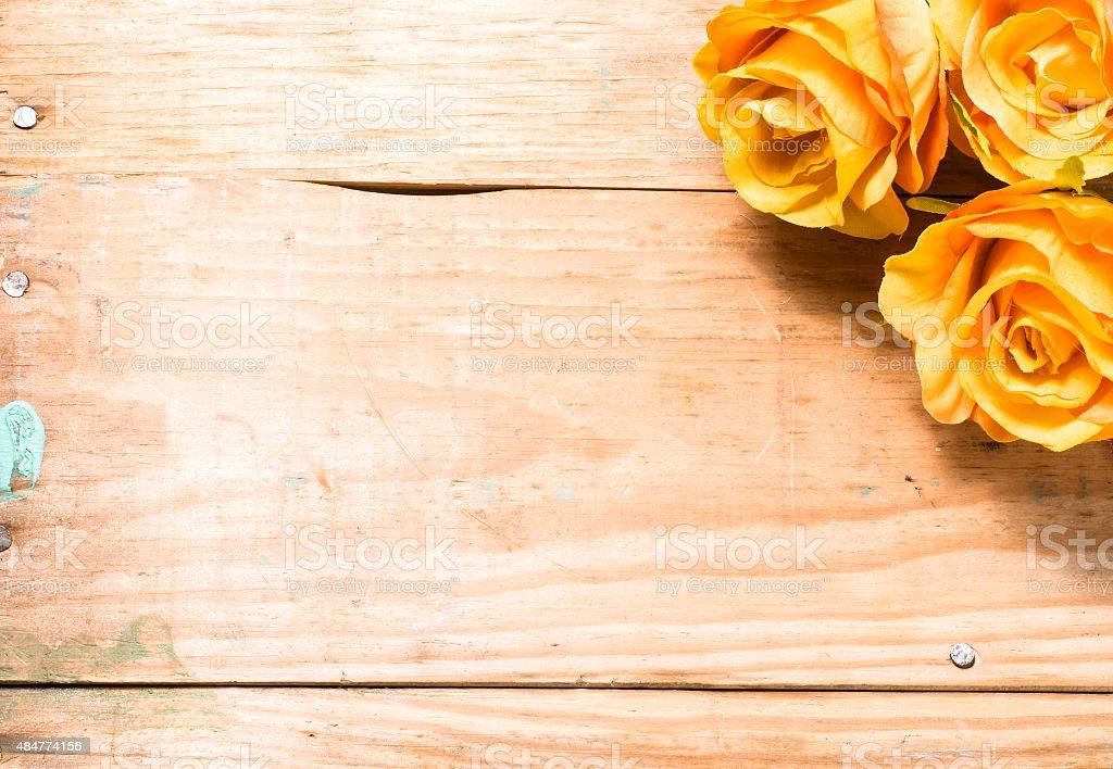 Flores De Chá De Rosas Providenciados Em Marrom Vintage