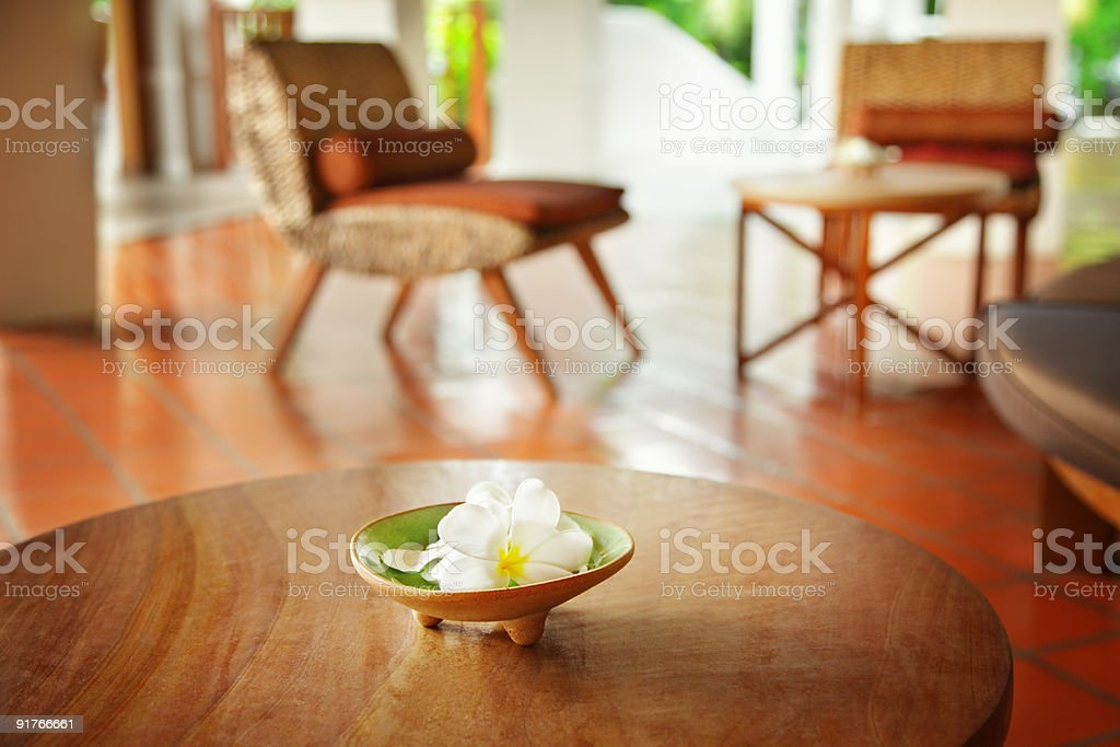 Flowers on a table stock photo