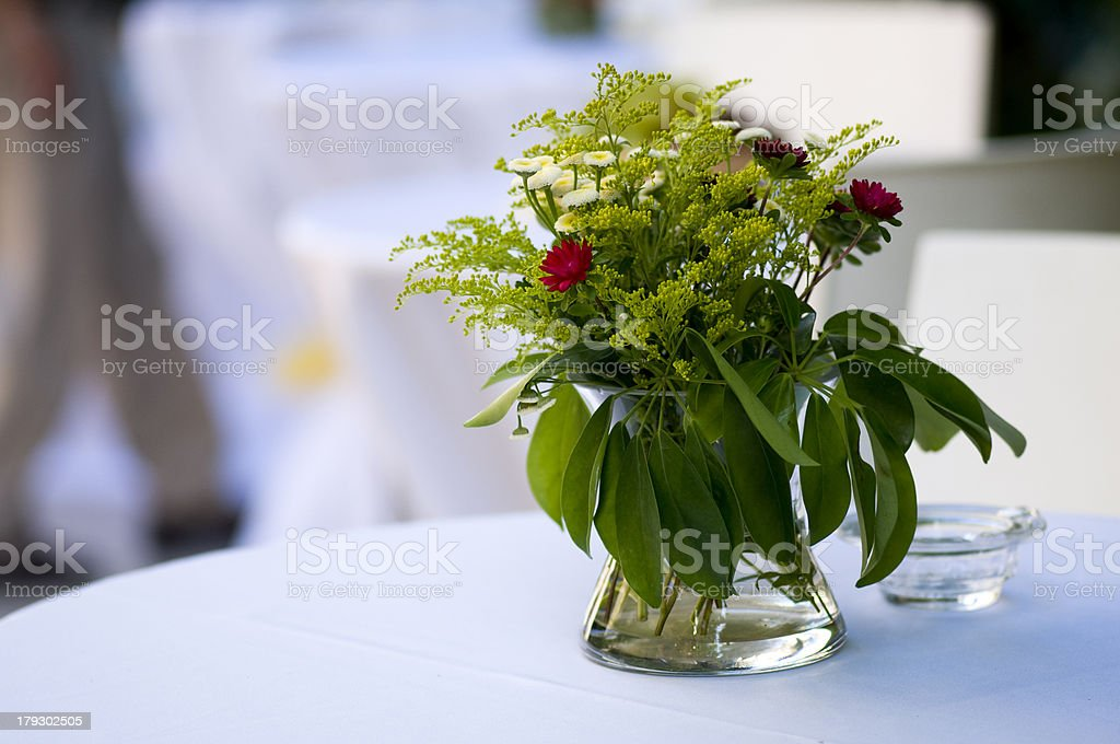 flowers on a white table royalty-free stock photo