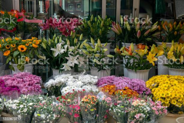 Photo of Flowers on sale in the street