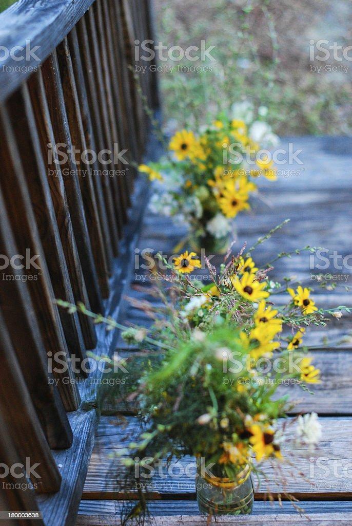 꽃이 계단 royalty-free 스톡 사진