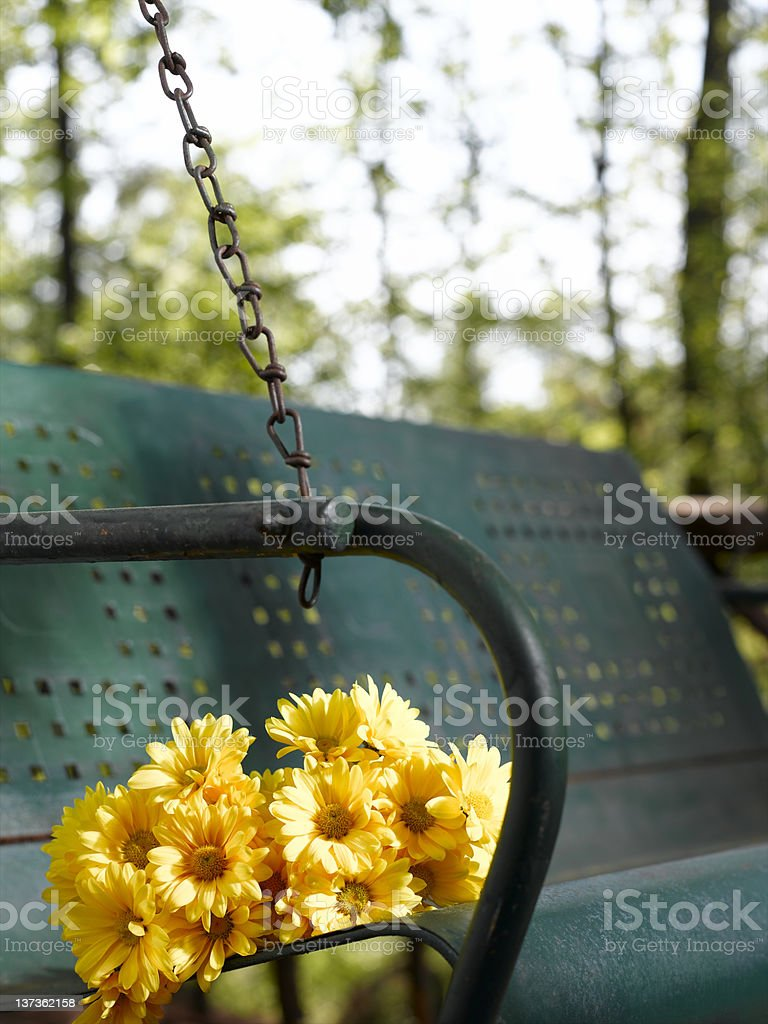Flowers on Swing royalty-free stock photo