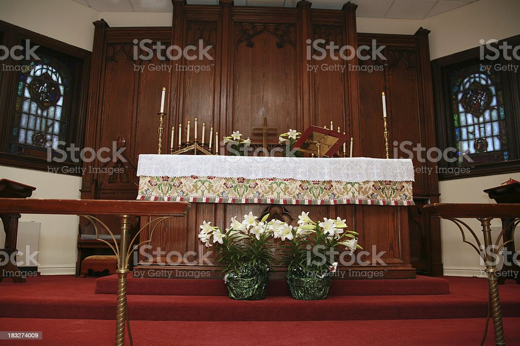 Flowers On The Altar royalty-free stock photo