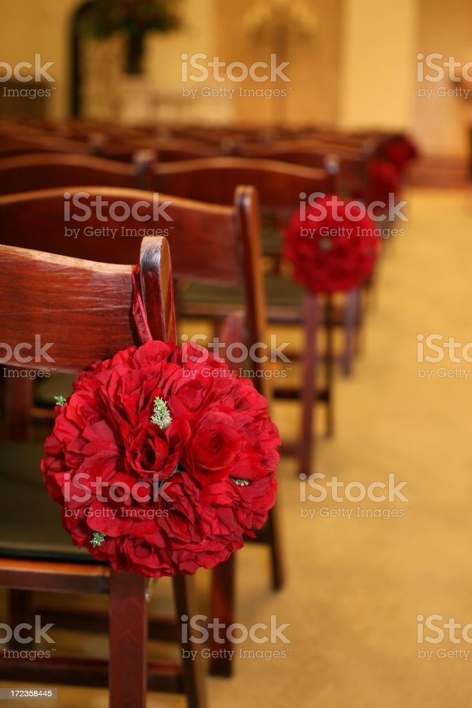 Flowers on Wedding Day royalty-free stock photo