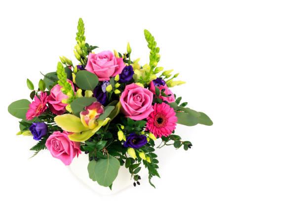 blommor - flower bouquet blue and white bildbanksfoton och bilder
