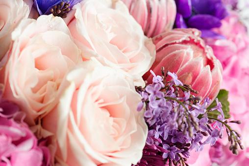 Multi coloured flower bouquet.