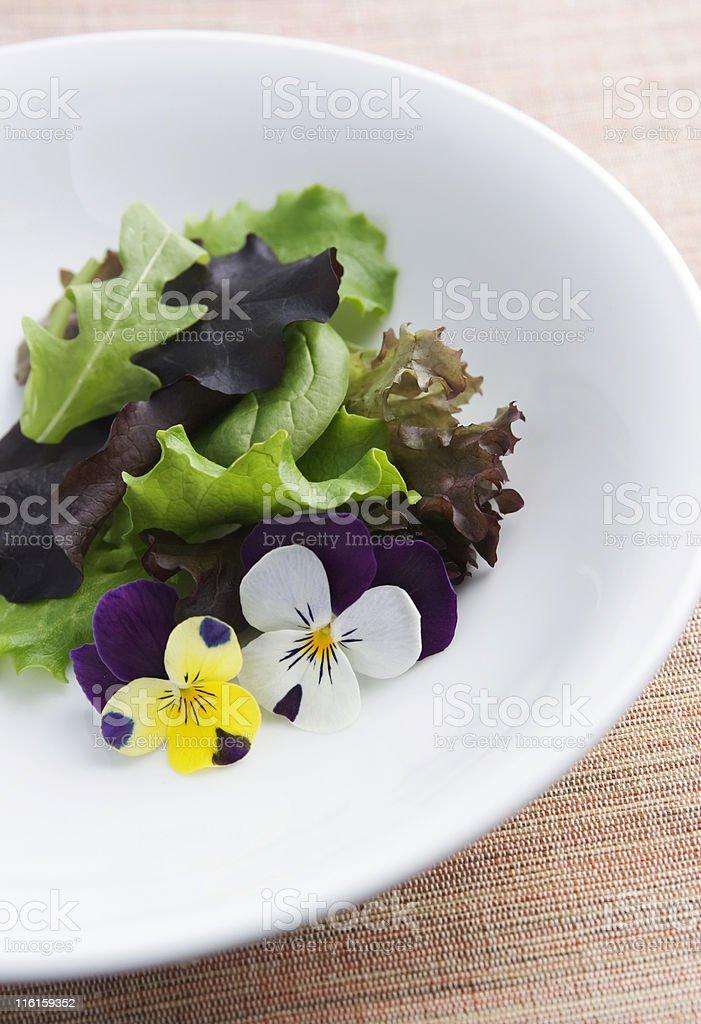 Flowers salad royalty-free stock photo