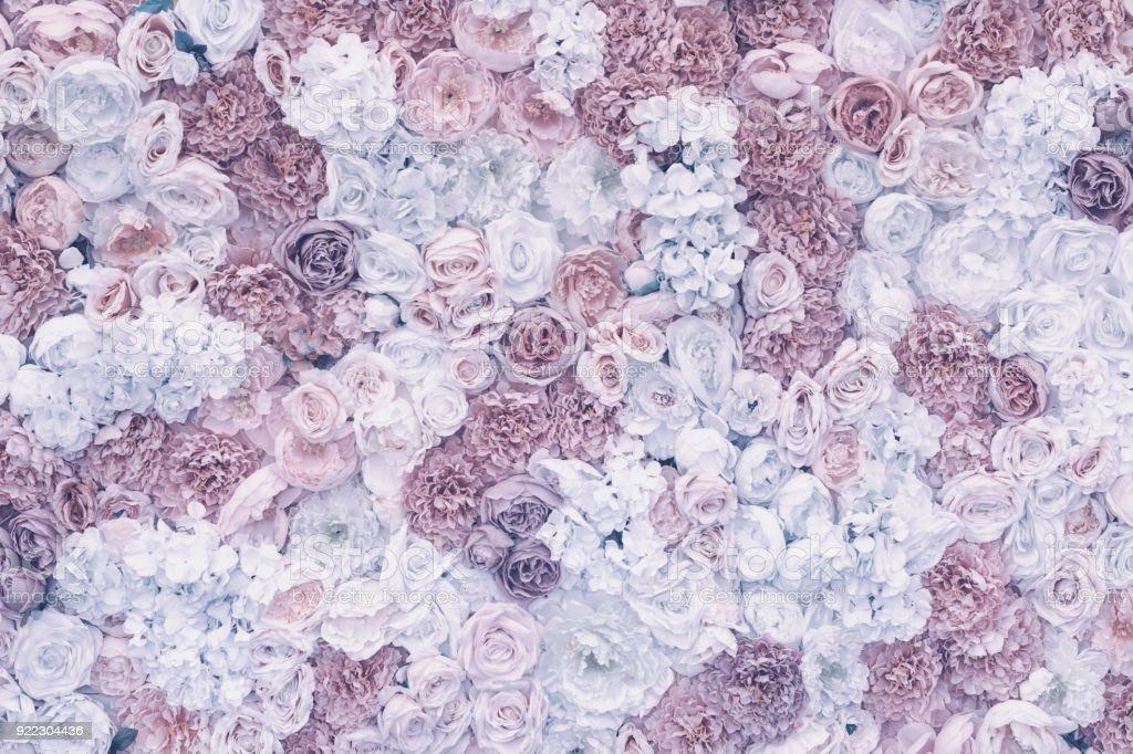 Fotografia De Fondo Pastel De Flores Violeta Efecto Vintage - Decoracion-romantica-vintage