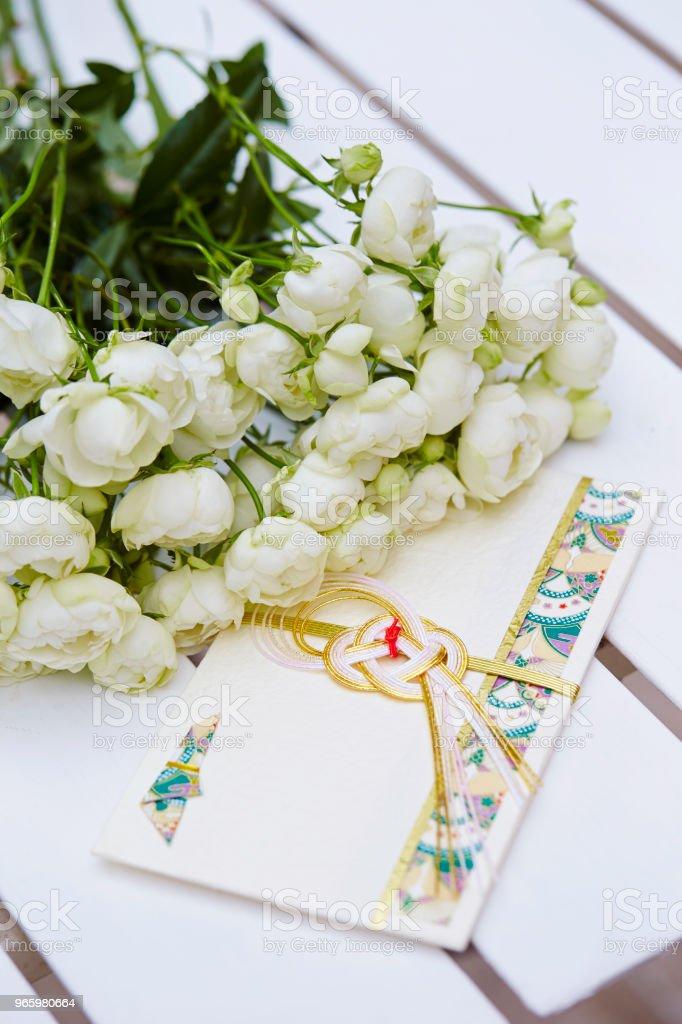 Blumen mit Umschlag - Lizenzfrei Baumblüte Stock-Foto