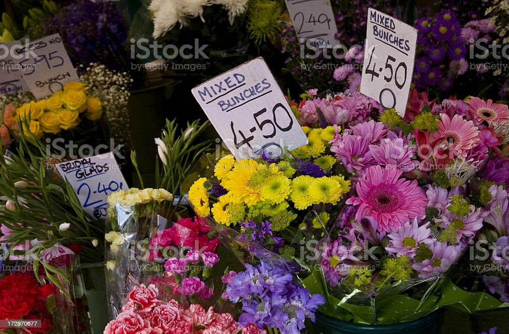 Flowers With Price Tags In A Flower Market Stock Photo & More ...