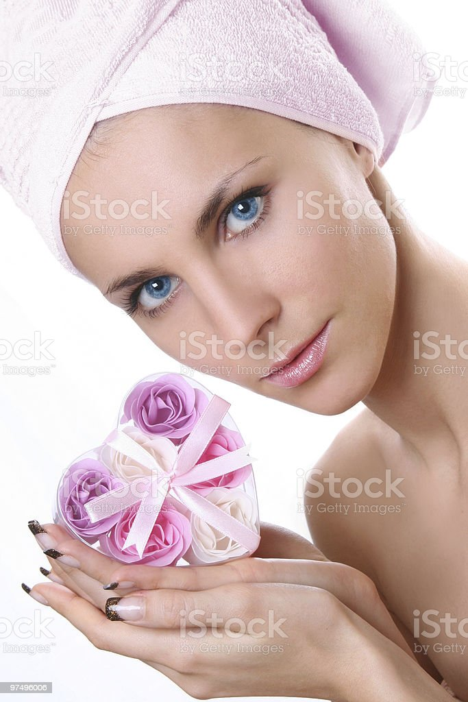 flower-soap royalty-free stock photo