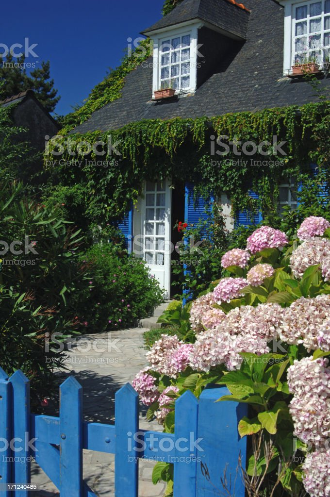 Flowery front garden royalty-free stock photo