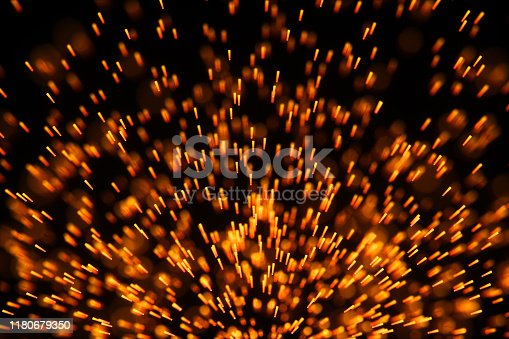 998287586 istock photo Flowing and glowing particles with dark background, 3d rendering. 1180679350