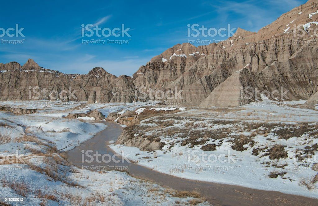 Flowing Arroyo stock photo
