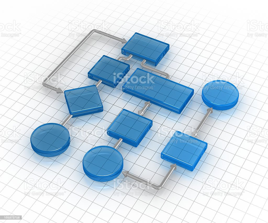 Flowing Chart stock photo