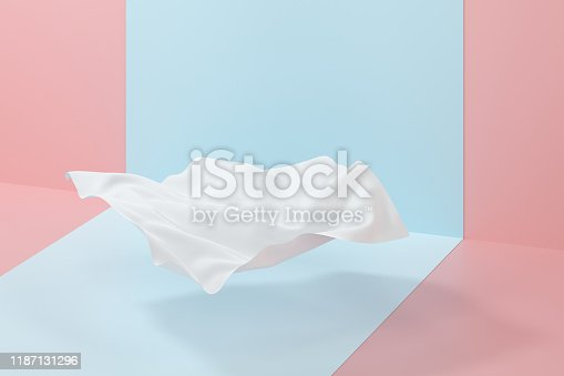 istock Flowing cloth, abstract color background, 3d rendering. 1187131296