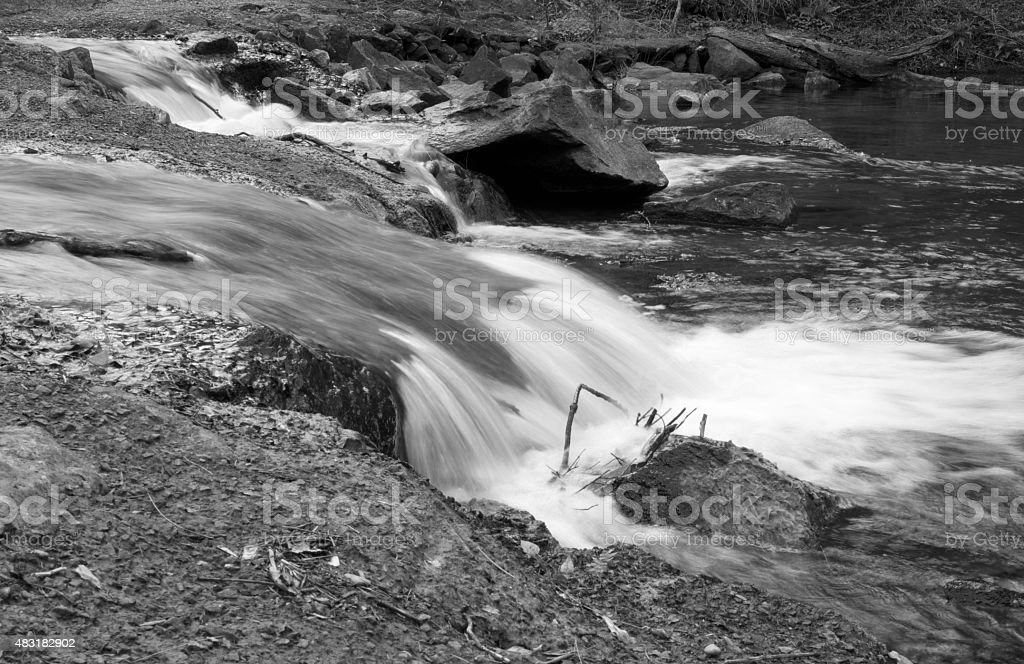 Flowing Creek Water stock photo