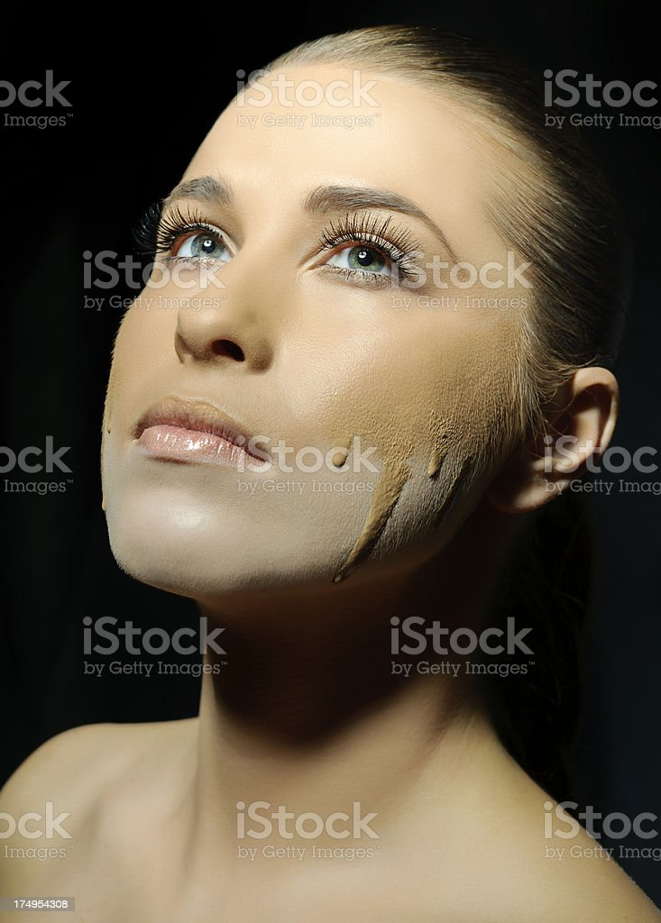 flowing foundation royalty-free stock photo