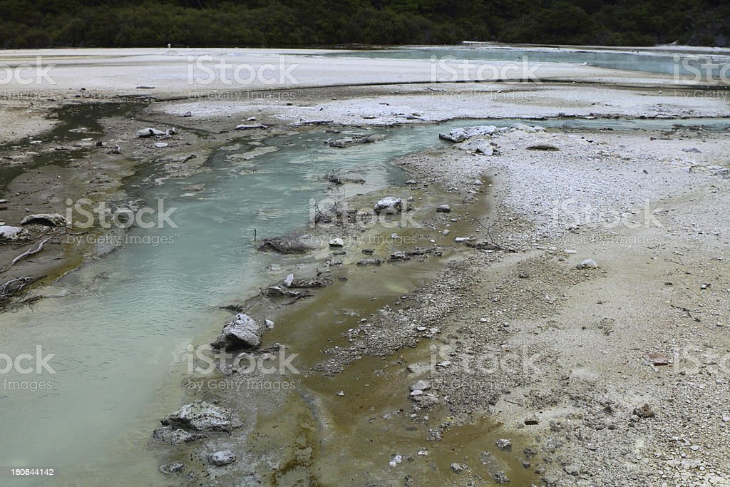 Flowing hot spring royalty-free stock photo