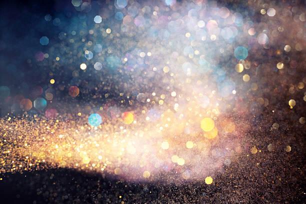 mouvement multicolore lumières - or couleur photos et images de collection