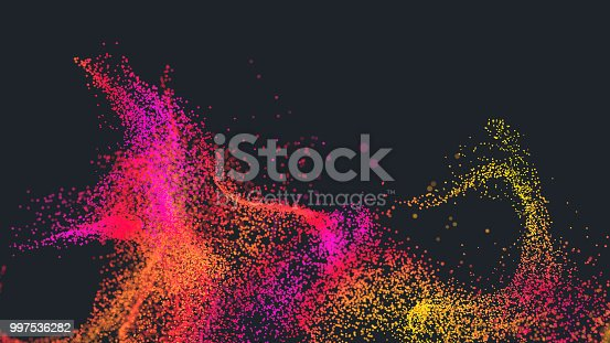 istock Flowing particles 997536282