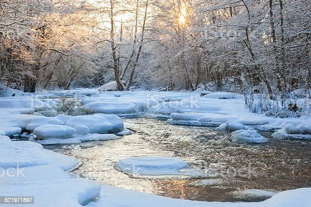Photo of Flowing river in winter