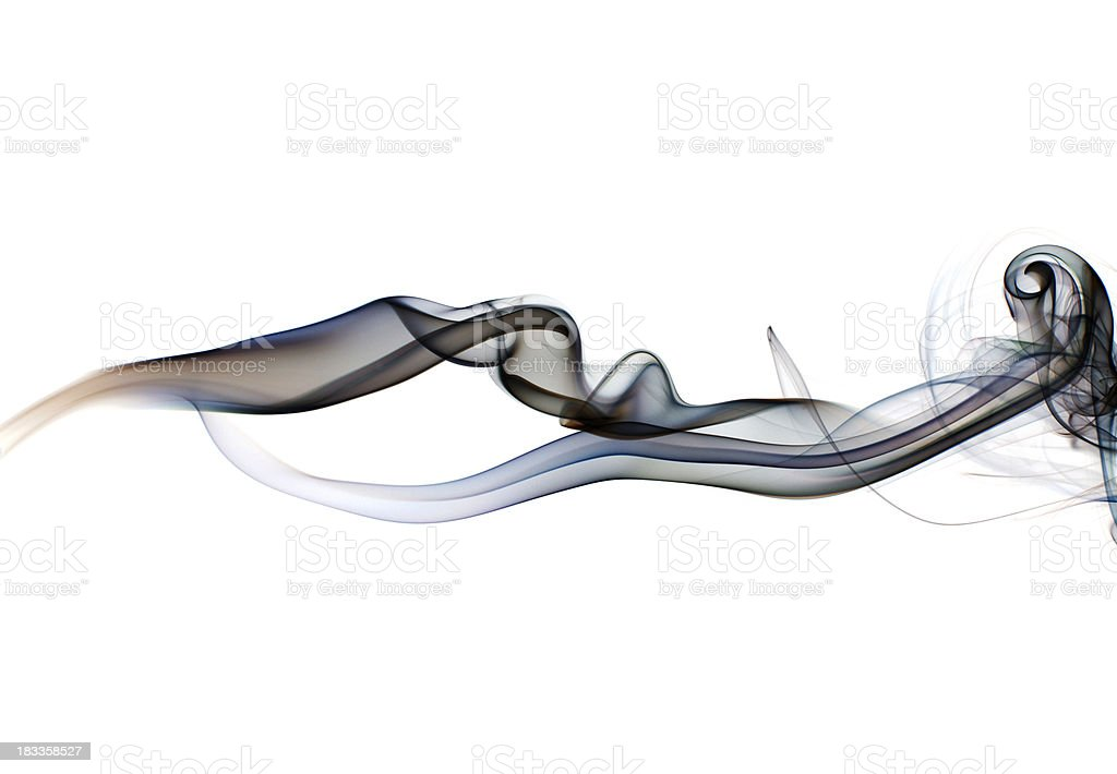 Flowing smoke segment stock photo