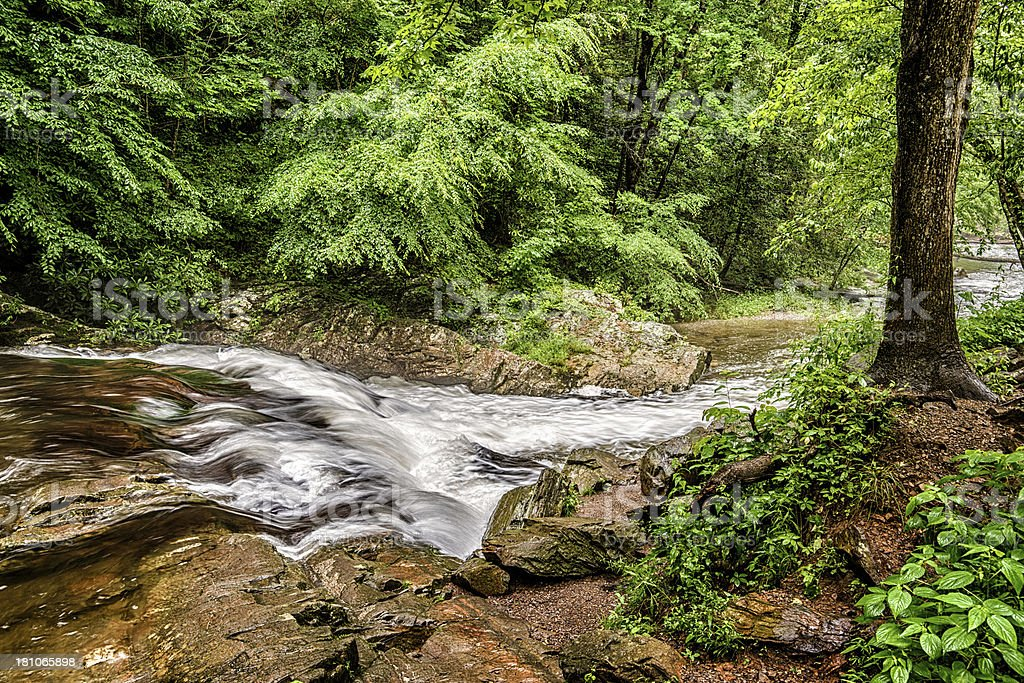 Flowing Stream In The Smoky Mountains royalty-free stock photo