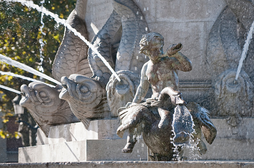 Flowing Traditional French Fountain