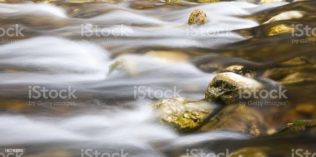 Flowing Water along a Stream royalty-free stock photo