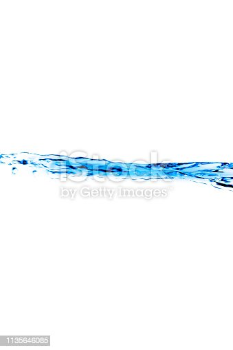 629189244 istock photo Flowing water and white background 1135646085