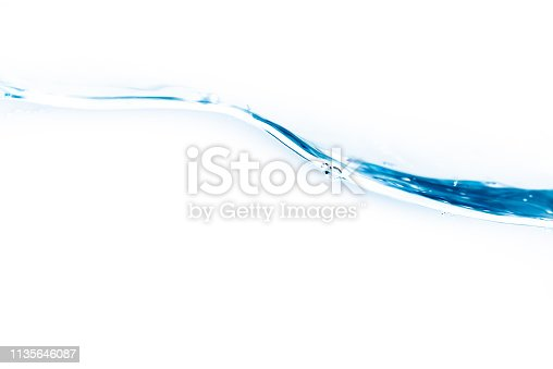 629189244 istock photo Flowing water and white background 1135646087