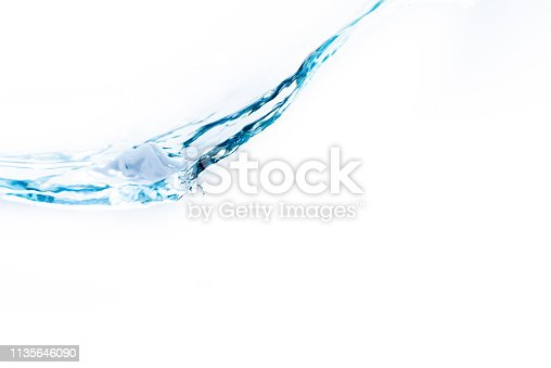 629189244 istock photo Flowing water and white background 1135646090