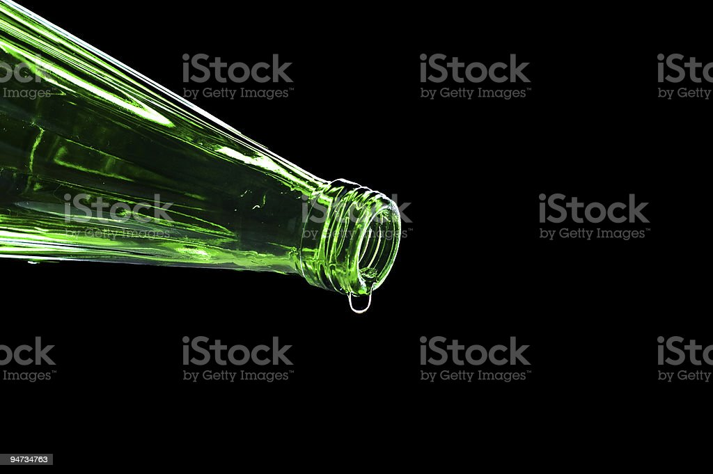 flowing water from bottle royalty-free stock photo