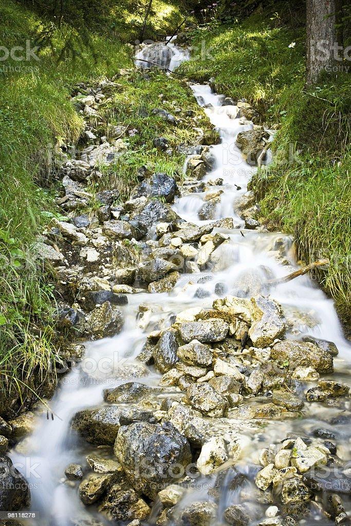 흐르는 물 임산 royalty-free 스톡 사진