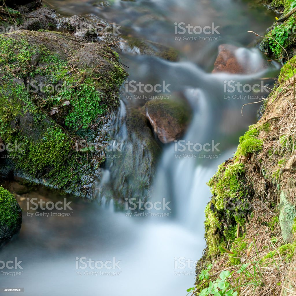Flowing Water Stream royalty-free stock photo
