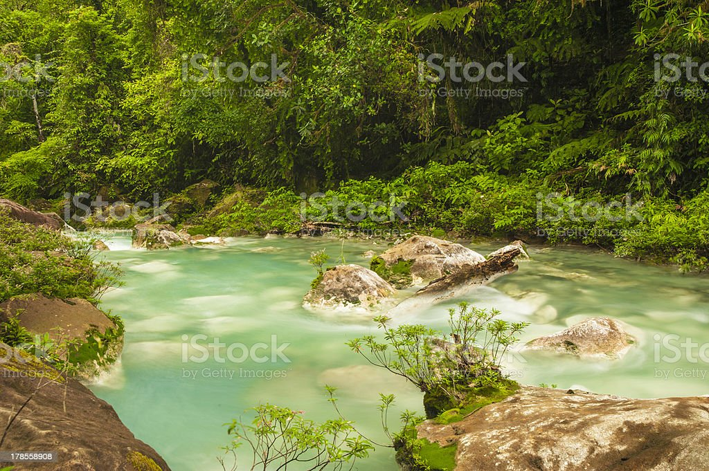 Flowing Waters of Rio Celeste royalty-free stock photo