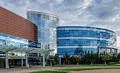 New Albany, Indiana, USA - April 10, 2016: Floyd Memorial Hospital.