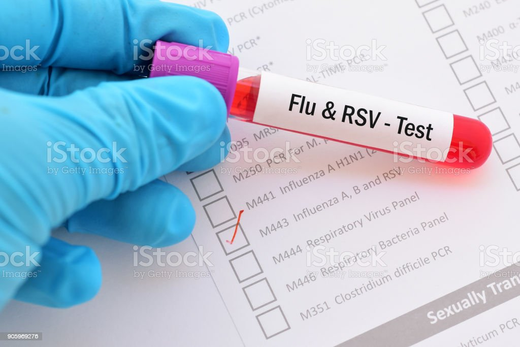 Flu and RSV test stock photo