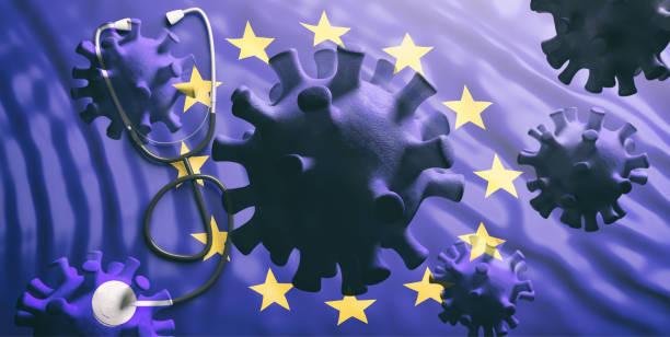 Grippe-Coronavirus-Pandemievirus-Infektion, Verbreitung auf Europa Konzept.3d Abbildung – Foto