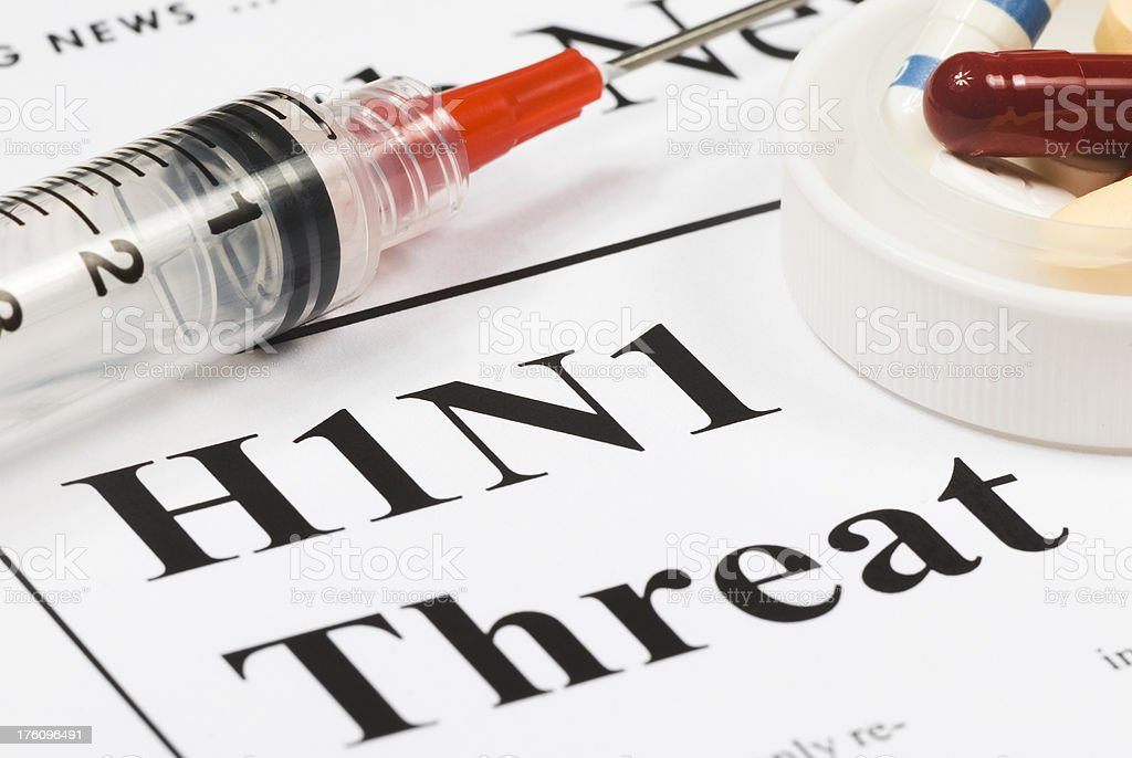 H1N1 Flu Global Threat, Health Issue - I royalty-free stock photo