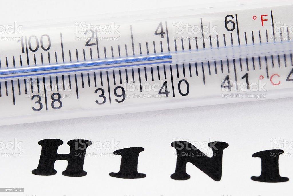 H1N1 Flu high fever (104F or 40C) - III royalty-free stock photo