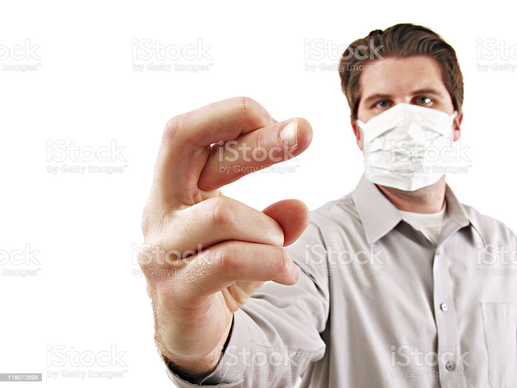 Flu Masked Man royalty-free stock photo