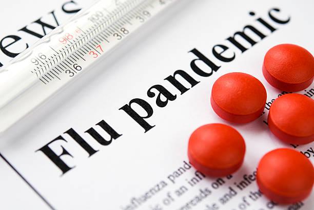 Influenza dell'Influenza A (H1N1)/pandemia titoli-VI - foto stock