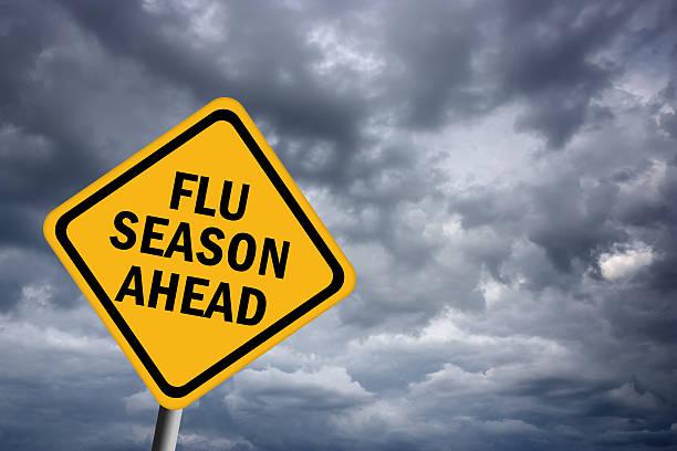 Influenza stagione in arrivo - foto stock