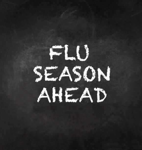 grippe kommenden saison - kreidetafel zitate stock-fotos und bilder