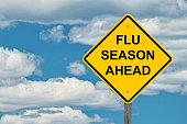 istock Flu Season Ahead Warning Sign 1062139820