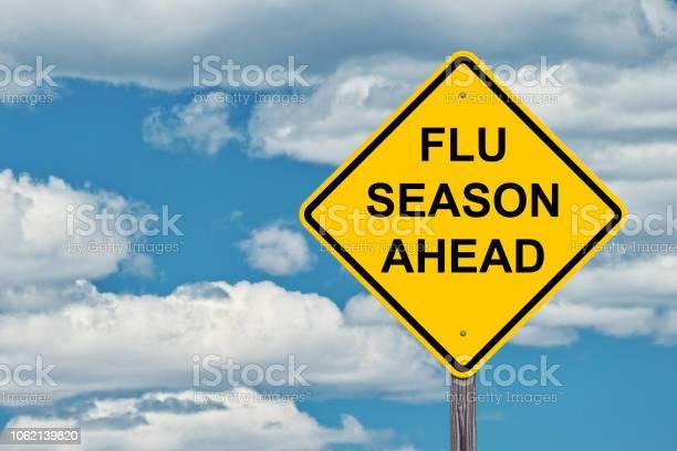Photo of Flu Season Ahead Warning Sign